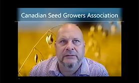 Jonathan Nyborg, Président sortant de l'ACPS introduction à Semences Canada