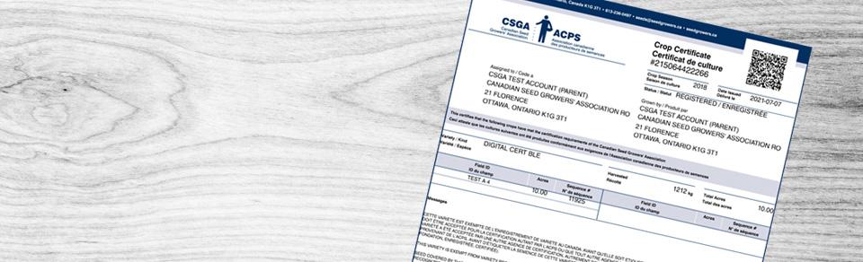 Digital Crop Certificatesalton
